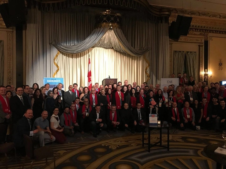 Canadian reception at the RSNA.