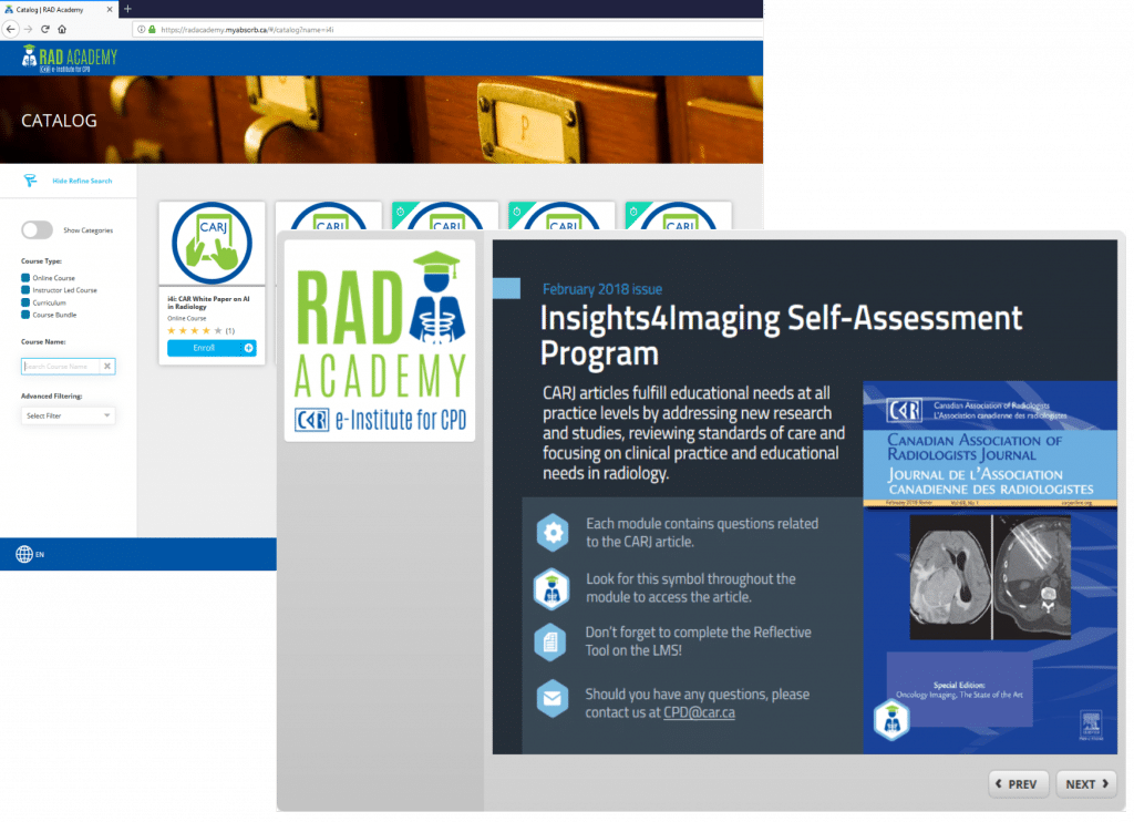 Insights 4 imaging screenshot.